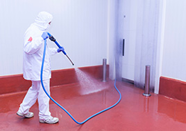 Photography of work environment cleaning.